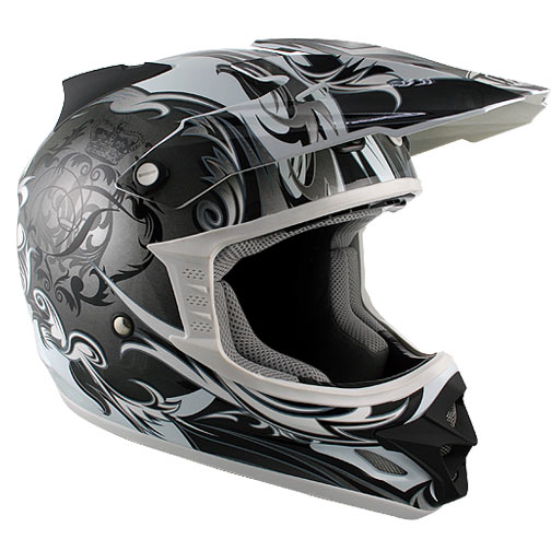 CASCO OFF-ROAD THH HELMET TX-23 Fantasy White and Gray Glossy Motocross