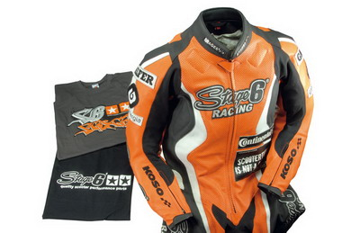 ACCESORIO STAGE 6 STAGE 6 RACING LEATHERS AND T-SHIRTS
