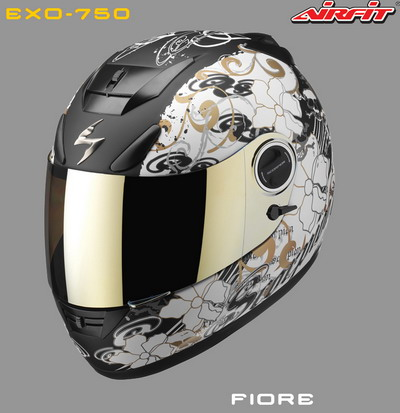 CASCO INTEGRAL SCORPION EXO 750 FIORE NOIR OR MAT