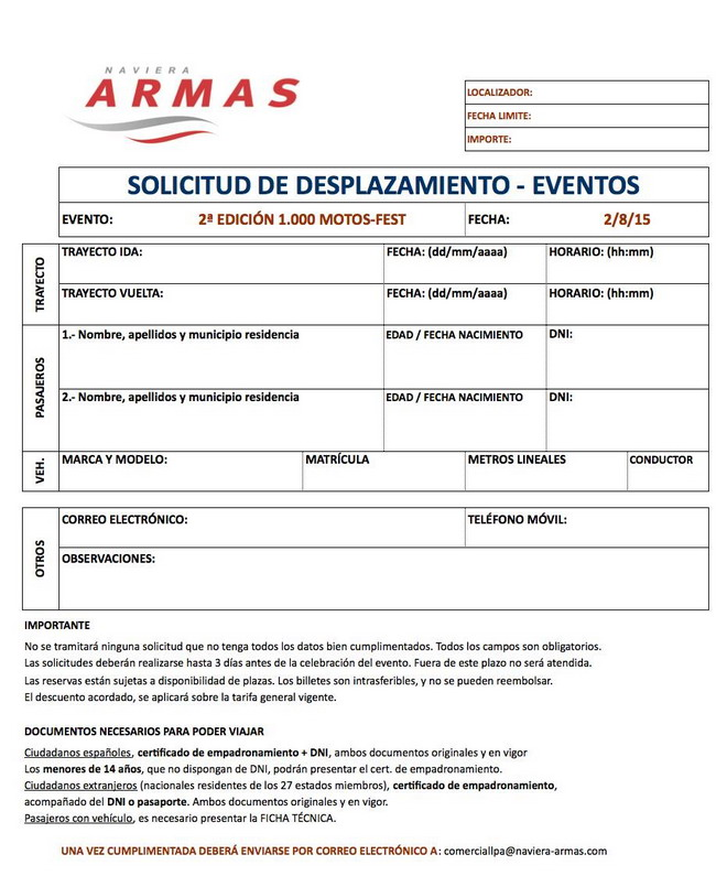 Motos fest busca batir un r cord de asistencia de for Horario naviera armas oficinas