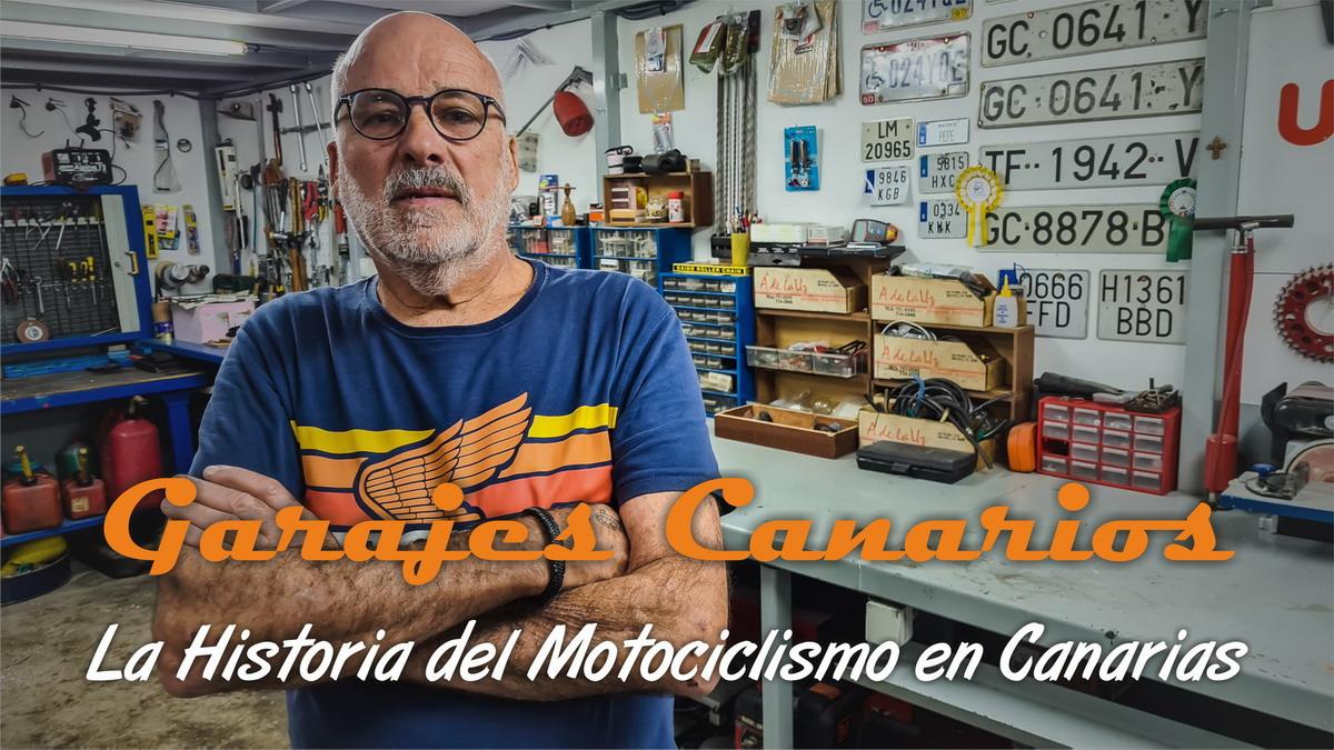 Garajes Canarios 11: Pepe Moreno, el motorista eternamente joven